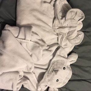 Set of baby hooded towels